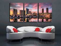 san diego harbor picture sunset landscape canvas prints 3 panel wall art home decor no framed on large 3 panel wall art with san diego harbor picture sunset landscape canvas prints 3 panel wall