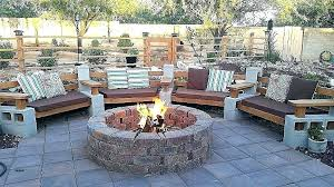 outdoor fire pit seating outdoor re pit seating ideas elegant outstanding cinder block area outdoor fire pit seating area ideas