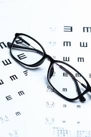 Snellen Chart Free Download Glasses And Eye Chart On White Background Photo Free Download