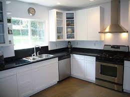 L shaped kitchen appliance layout