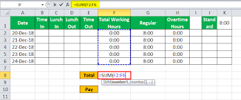 Excel Time Sheet Calculator Timesheet In Excel Guide To Create Timesheet Calculator