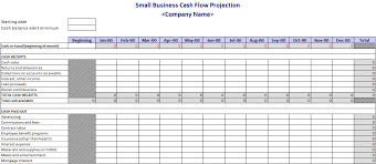 How To Do A Cash Flow Projection Cash Flow Projection Template Flow Chart Template