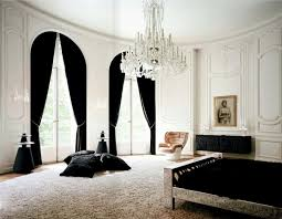 Exceptional Lenny Kravitz Paris Apt Bedroom Black White Fur Glam Chandelier 1970s Chair