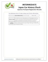 interate an car history check