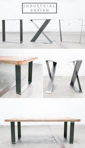 Conf table Square, X-Style, & Trapezoid DIY Modern Frame Legs (Raw Steel)   Set of 2 Industrial Strength Table Legs  DIY Bench Legs, Coffee Table Legs,  ...