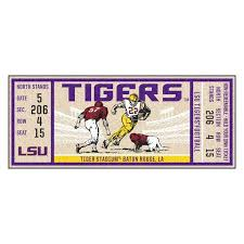 lsu area rugs state university tigers ticket non skid mat area rug runner area rug s