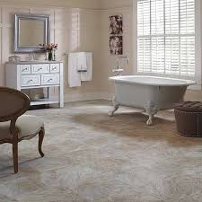 a bathroom with mannington century installed on the floor