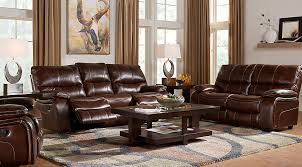 living room ideas leather furniture. Cindy Crawford Home Gianna Brown Leather 3 Pc Living Room With Reclining Sofa - Rooms (Brown) Ideas Furniture H