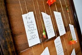 Calligraphy Wedding Seating Chart Modern Calligraphy Tutorial Suspended Flower Wedding