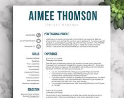 Modern Resume Templates 20 Creative Resume Template For Word Pages 1