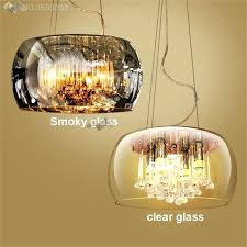 crystal pendant shade modern luxury crystal pendant lights glass lampshades hanging lamp for living room hotel crystal pendant shade 1 light
