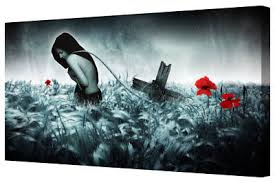fantasy gothic woman red poppies abstract canvas wall art picture print on poppy wall art uk with fantasy gothic woman red poppies abstract canvas wall art picture