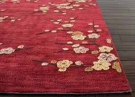 image of red area rug 8 10