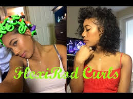 Big Fluffy Curls With Flexi Rods On Natural Hair