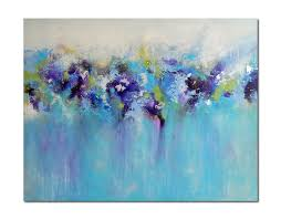 large abstract painting blue