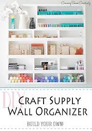 diy craft supply wall organization