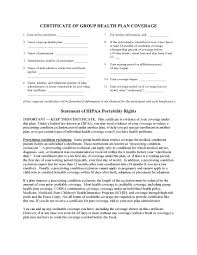 Group Certificate Template Health Plan Certificate Template Pdf Pdf Format E Database Org