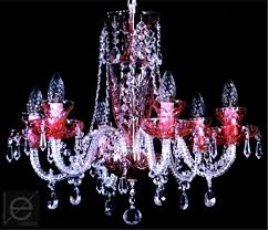 colored crystal chandelier 6 arms w x h 56 x 50 cm twisted glass arms