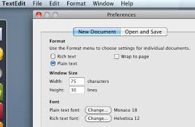 Using Apple's TextEdit as an HTML editor
