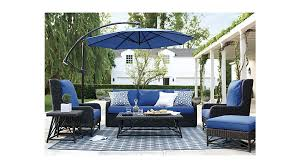 cantilever patio furniture blue cantilever patio umbrella with black stand with