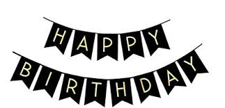 Amazon Com Fecedy Black Happy Birthday Bunting Banner With Shiny