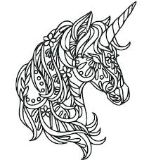 Unicorn Coloring Pages For Adults Intricate Coloring Pages Unicorn