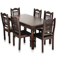 perfect dining table for 6 jaipur solid wood maharaja seater set my nest home dot