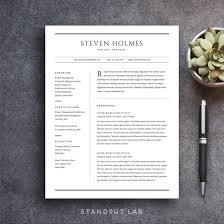 Stand Out Resume Templates Mesmerizing Resume Template And Cover Letter Professional Design Resumes That