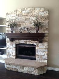 refacing a brick fireplace with stone mmvote