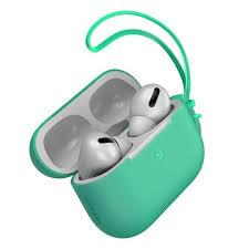Чехол <b>Baseus Let's Go</b> Jelly Lanyard зелёный для Airpods Pro ...