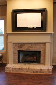Brick Fireplace Remodel Ideas Half Brick Fireplace Surround With Elevated Hearth Harris Doyle