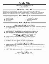 Clerical Work Resume Inspirational Work Resume Example Examples Of