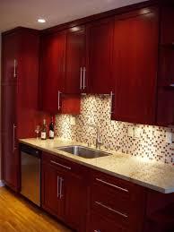 Cherry Shaker Kitchen Cabinets Red Oak Shaker Kitchen Cabinets Unique Cabinet Ideas Red Kitchens
