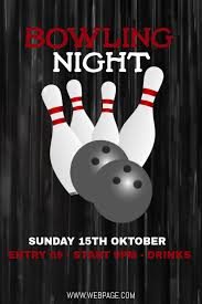Bowling Event Flyer Bowling Night Flyer Template Postermywall
