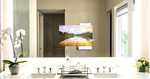 tv in mirror bathroom tv in mirror bathroom diy tv behind mirror inside proportions 1900 x