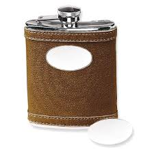 icecarats icecarats 6 oz stainless steel faux leather brown flask bar wine smoking tankard com