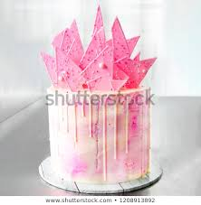 Pink Baby Yellow White Fancy Birthday Stock Photo Edit Now