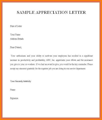 Appreciation Letters Samples Examples Of Letters Appreciation Letter