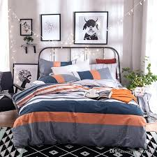 gray orange bedroom blue and white stripe duvet cover size cotton spring summer bedding sets for gray orange