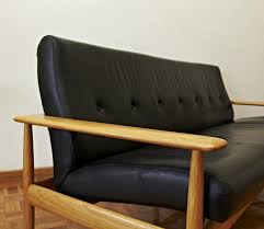 scandinavian leather furniture. Scandinavian Leather Sofa, 1950s Furniture A