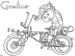Small Picture Start Coloring Page Comic Book Coraline Bebo Pandco