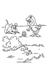 Kleurplaat Huisdier Hond Kikker Feestdagen