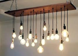 mid century modern wood chandelier danish sputnik