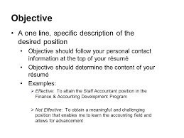 Objective Lines For Resume Resume Objective Lines Resume Career