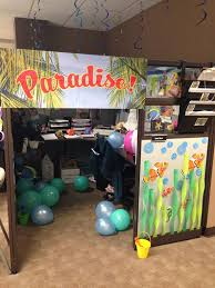 beach office decor. my summer beach themed cubicle coworkers did for birthday office decor a