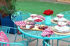 painting wrought iron furniture. Painting Metal Outdoor Furniture How To Paint Wrought Iron Patio With Chalk By H