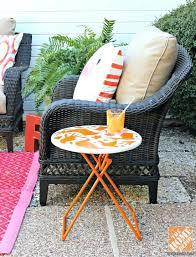 outdoor patio coffee table patio decor ideas wicker patio chair with stenciled side table outdoor patio