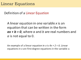 2 linear equations definition
