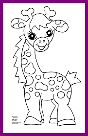 Baby Giraffe Coloring Pages Color Printable Colouring Cute Dreaded