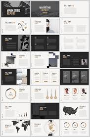 Modern Powerpoint Template Free Marketing Report Free Powerpoint Template Powerpoint